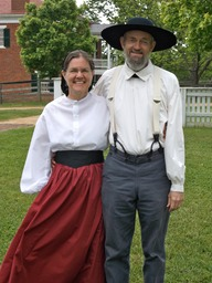 Marcia & Woody McKenzie, 19th c. garb