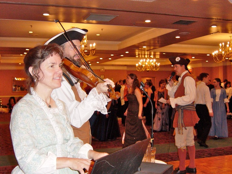The McKenzies, piano & fiddle, colonial ball